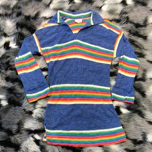 Rare 1970s Hippie Vintage Rainbow Tunic Grouch